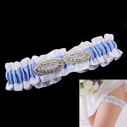 Wholesale 60pcs Ladies Garter With Crystals Wedding Bridal Leg Ornament Party Leg Satin Garter jw009