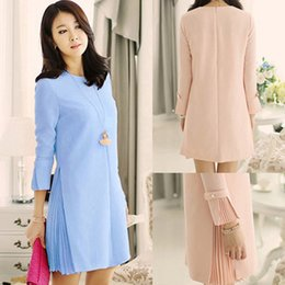 Wholesale 2015 New Spring Autumn Maternity Dresses Casual Pregnancy Dress Long sleeved Maternity Clothing for Pregnant Clothes