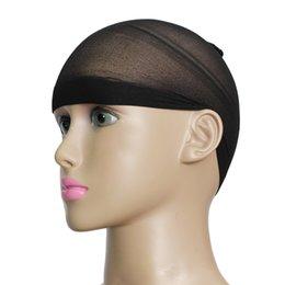 Wholesale 2Pcs Unisex Stocking Wig Liner Cap Nylon Stretch Breathable Mesh Hairnets Black PTSP