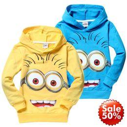 Wholesale 2016 Hot Despicable Me minions boys clothes girls nova shirts child Spring hoodies Tops Tee Baby Sweatshirts Coats Spring Autumn Minion
