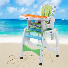 Wholesale 2015 Motoseghe Hot Sale in1 Multi function New Plastic Baby Dinner Chair Without Painting Three Colors Folding with Wheels