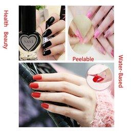 Wholesale Healthy Colors Nontoxic Waterbased Peelable Nail Polish Art Varnish Enamel Makeup Cosmetics Promotion Sale