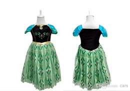 Wholesale Frozen Snow queen Anna Cosplay Costume frozen anna coronation dress kids gown dress Deluxe Cosplay frozen embroidered dress