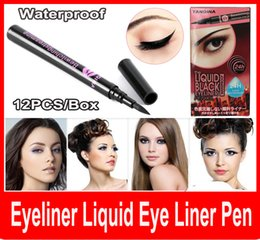 Wholesale New Black Waterproof Eyeliner Liquid Eye Liner Pen Pencil Makeup Beauty Cosmetic Black Waterproof Eyeliner Makeup Beauty Cosmetic