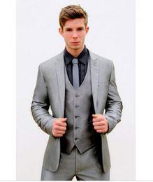 Discount Mens Silver Grey Slim Fit Suit | 2017 Mens Silver Grey