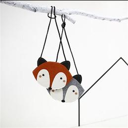 Wholesale New Baby Cute Fox Bag Kids Purse Handbag Wallet CM Children Girls Fashion Cartoon One side Bags Christmas Birthday Gift