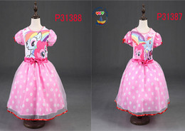 Wholesale 2016 new style movies animal pony princess dress for child friend girls dresses summer children s clothing sales my little pony promotion