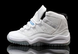 Wholesale Fashion Childrens Athletic Shoes Kids Boys Basketball Shoes Baby Sports Shoe Retros Legend Blue Toddlers Running Shoes WhiteSize C Y