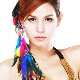 Wholesale Fashion Multi Color Feather Hair Extensions with Clips