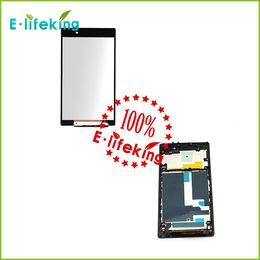Noir écran LCD + écran tactile numériseur + cadre d'assemblage pour Sony Z1 L39h l39 C6902 C6903 C6906 C6943 noir Livraison gratuite