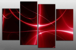 large red and black digital abstract canvas picture split no frame