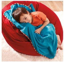 Wholesale The infant child travel soft blanket carpet baby cart blanket childrren velour klanket cotton