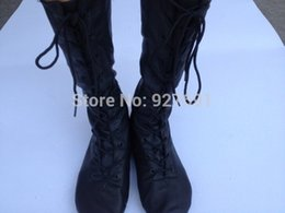 Free shopping New genuine leather jazz boots long-barreled belt high dance shoes modern dance boots jazz dance shoes