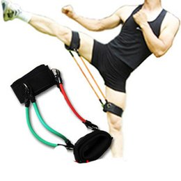 Wholesale Latex Kinetic Leg Resistance Bands Set Tubes with Ankle Strap Kit Fitness Workout Running Exercise Gym D