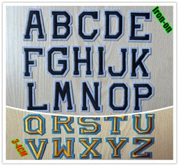 Wholesale Functional embroidery letter patches iron on cloth patch pieces per