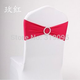 Wholesale Lycra Chair Bands with Round buckle Lycra Chair Cover Sash Bands for Weddings Events Decoration