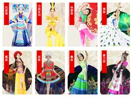 Wholesale The colours of Yunnan minority costume Bai Jinhua costume dance stage costume ladies white spring
