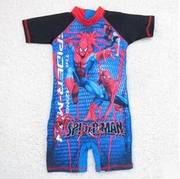 Wholesale Spider Man Surf clothing Children s Beach Swimwear Summer Boys Swimsuit Swimming one piece N472