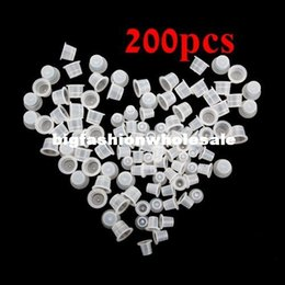 Wholesale New Plastic Tattoo Ink Cups Caps Supplies Accessory Holder Large Small New White