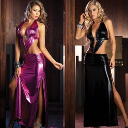 Wholesale Backless Bodycon Club Dresses For Womens Dancing Performance Nightclub Clothing Sexy Suits Erotic Lingerie Costumes Erotic Sexy Outfits