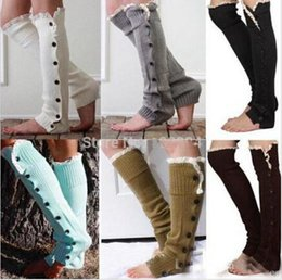 Wholesale hot sale new Stage Wear Lace button down Leg Warmers Ballet Dance Warm up knitted booty Gaiters Boot Cuffs Socks Boot Covers