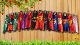 Wholesale 2015 superhero capes Superman Spiderman Batman Captain America Ironman party favors customize logo layer