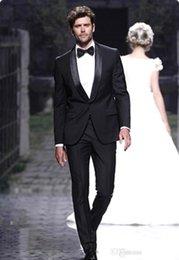 Wholesale 2015 Black Slim Fit Custom Made Men Tuxedo Wedding Suits for Men Grooms Groomsmen Tuxedos Grooms Wear BO9026
