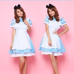 Wholesale The new blue dress Cosplay anime maid maid princess dress party dress nightclub work clothes show photo