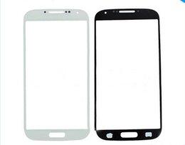 OEM avant Outer lentille en verre écran numériseur pour l'écran Samsung Galaxy S i9500 VI S4 tactile Cover Noir Bleu Blanc