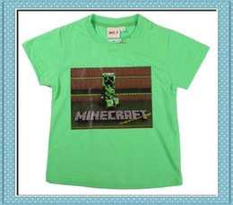 Wholesale 3 styles Minecraft Creeper Game funny T shirt women men a t shirt short sleeve short sleeves BOYS cotton sweethearts outfit clothes
