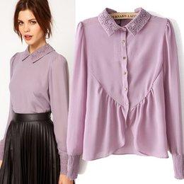 Wholesale 2015 new spring European style women blouses chiffon Vintage blous women clothing S710