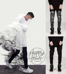 Wholesale 2015 men Fold famous brand jeans Hip Hop high quality Skinny Denim Biker Joggers Fashion Streetwear pants trousers colors