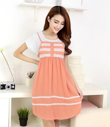 Wholesale 5pcs New Korean summer maternity dress pregnant solid leave two pregnant women dress