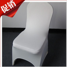 Wholesale Universal White Polyester Spandex Wedding Chair Covers for Weddings Banquet Folding Hotel Decoration for Wedding Party
