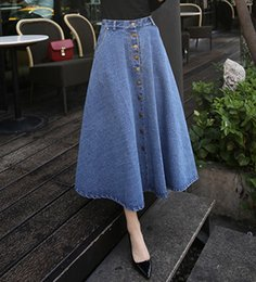 Discount Flare Denim Skirt | 2017 Flare Denim Skirt on Sale at ...
