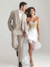 Wholesale 2015 Bridegroom Tuxedos Pinterest Pupular Gnetleman Wedding Suit Groom Wear Formal Jacket Bow Vest Pans Boys Tuxedos
