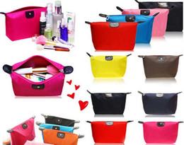 Maquiagem simples saco de moda impermeável viagens saco de cosmética organizador compõem armazenamento para as mulheres frete grátis # 6691