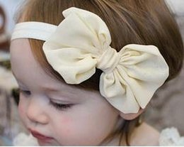 Wholesale New CUTE Baby Hairbands Hair accessories kids bowknot headbands infant hair bands children hairbow clip hair rope LOVELY POPULAR color mix
