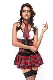 Wholesale New Lingerie Set Sexy Class President Costume School Girl sex apparel uniform B6092Z