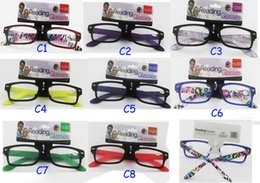 Wholesale 2016 Hot sale new colorful slim popular reading glasses with spring small eyewear eyeglasses powers from