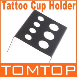 Wholesale 10pcs Black Stainless Steel Tattoo Ink Cup Holder Stand Tattoo Accessories Dropshipping