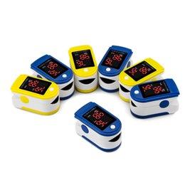 Wholesale Oxygen partner finger clip oximeter finger blood oxygen saturation heart rate heartbeat pulse detection test equipment