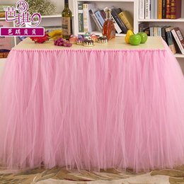 Wholesale 4 Color Optional Tulle Table Decorations cm cm New Festival Wedding Event Party Decorations Table Cover Wedding SuppliesCPA536