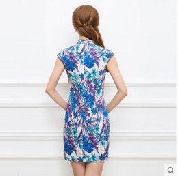 Wholesale Tang cheongsam dress new improved cheongsam daily short paragraph was thin sleeveless dress female summer TXF40677
