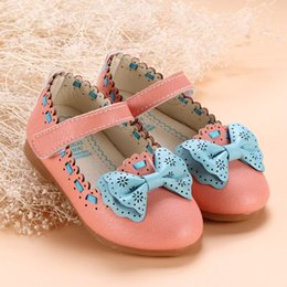 Wholesale New Girls Casual Shoes With Bows Children Spring Autumn Princess Flat Shoes Fashion Rigoal Scandals