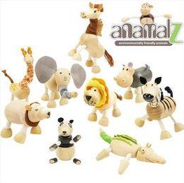 Wholesale ANAMALZ Moveable Maple Wooden Animals Australia Wood Handmade Farm Animals Toy Baby Educational Wooden Toys