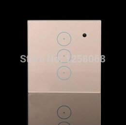 Best Price US Standard 3 Gang RF Wireless Remote Control Touch Wall Glass Touch Light Switch free shipping