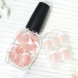 Wholesale Glue On False Nails Decadent Nail Elegant french style