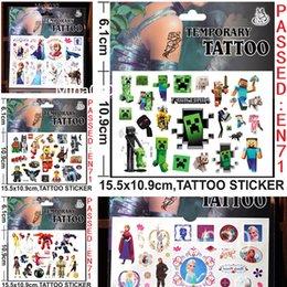 Wholesale Big Hero Baymax Stickers Cartoon Minecraft Frozen Minions Temporary Tattoos Sticker cmx10 cm Body Tatoo For Children Body Art Tattoos