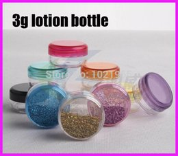 Wholesale 3g ps Plastic jar cream bottle gift box g PS Clear empty cream jar lotion container sample plastic bottle